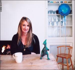 Anya Hindmarch at home via The Daily Telegraph
